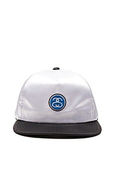 Stussy SS Link Satin Blocked Snapback in White