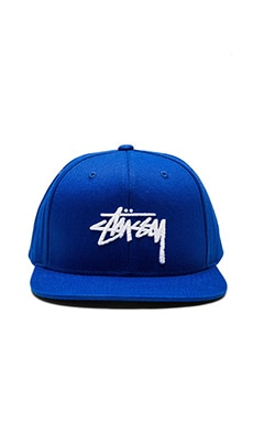 Stussy Stock SU16 Snapback in Royal Blue