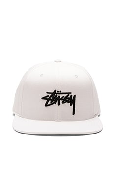Stussy Stock SU16 Snapback in White