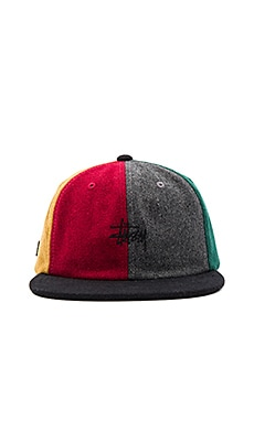 Multicolor Melton Wool Strapback