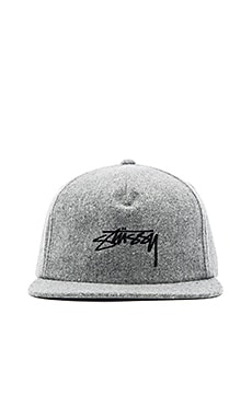 Smooth Stock Melton Wool Strapback