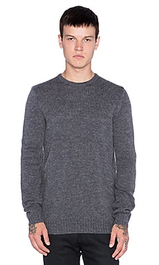 Stussy Mohair Sweater in Charcoal Heather