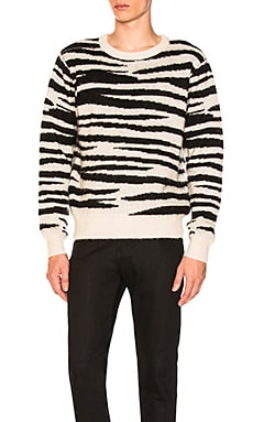 Zebra Mohair Sweater