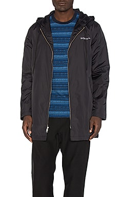 Insulated Long Hooded Coach Jacket