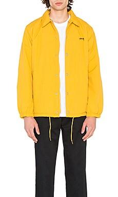 Купить Тренерская куртка с искусственным мехом smooth stock - Stussy желтого цвета