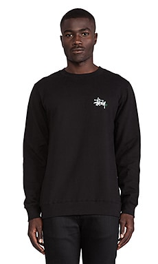 Basic Logo Crew in Black