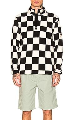 Checkered Mock Neck