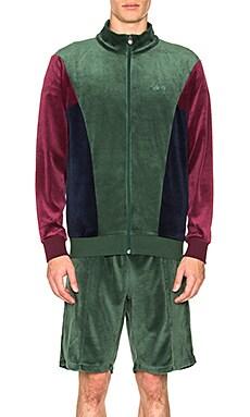 Velour Paneled Track Jacket Stussy $75