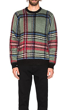 Plaid Mohair Sweater Stussy $200 NEW ARRIVAL