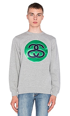 Stussy SS Link Sweatshirt in Grey Heather