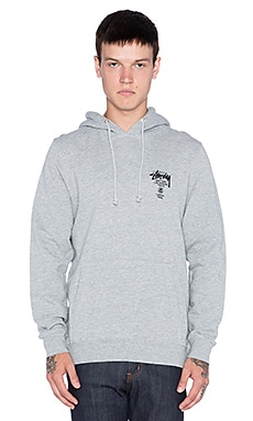 Stussy World Tour Hoodie in Grey Heather