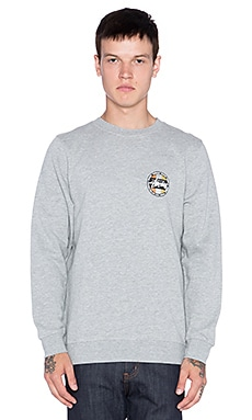Stussy Metallic Dot Sweatshirt in Grey Heather