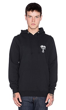 Stussy World Tour Hoodie in Black