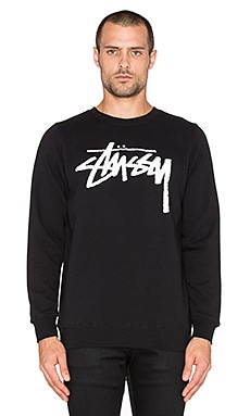 Stussy Stock Sweatshirt in Black