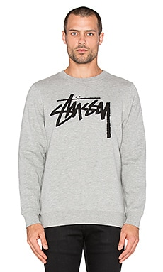 Stussy Stock Sweatshirt in Grey Heather