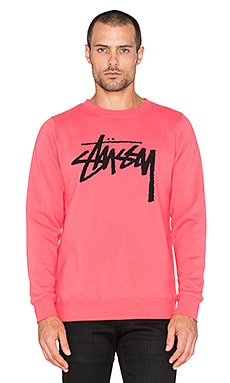 Stussy Stock Sweatshirt in Pink
