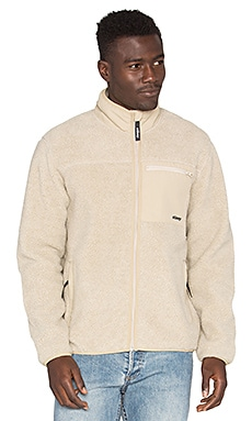 Stussy Berber Full Zip Jacket in Natural