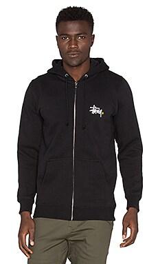 Stussy Basic Logo Zip Hood in Black