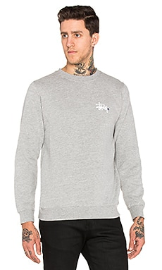 Stussy Basic Logo Crew in Grey Heather