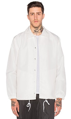 Stussy Logo Coach Jacket in White