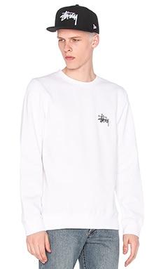 Stussy Basic Logo Crew in White