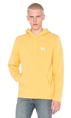 Stussy Basic Logo Hoody in Faded Yellow