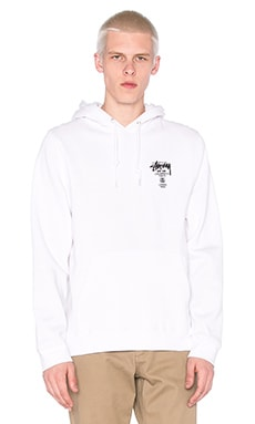 Stussy World Tour Hoody in White