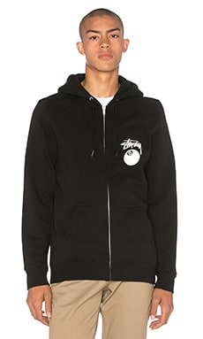 Stussy 8 Ball Zip Hoody in Black