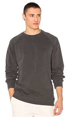 Stussy Stock Raglan Crew in Charcoal