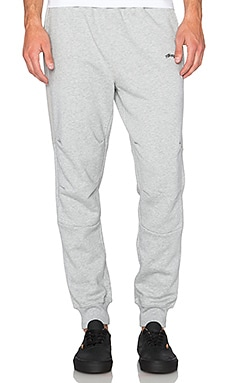 Stussy Flight Fleece Pant in Grey Heather