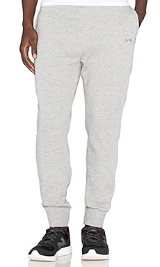 Stussy Tonal Stock Fleece Pant in Grey Heather