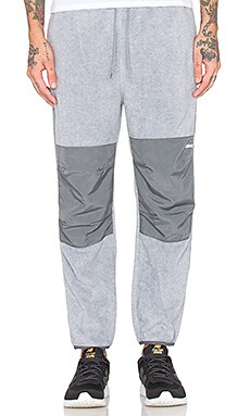 Stussy Polar Fleece Pant in Grey