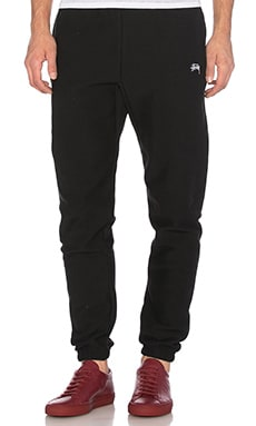 Stussy Stock Fleece Pants in Black