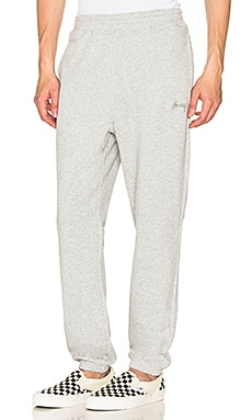 Stussy Stock Fleece Pants in Grey Heather