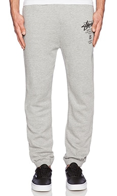 Stussy WT Sweatpants in Grey Heather