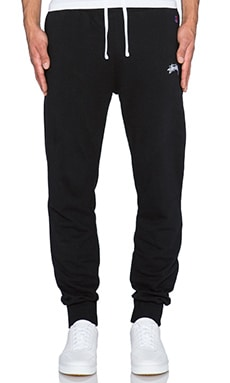 Stussy French Terry Pant in Black