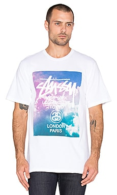 Stussy WT Clouds Tee in White