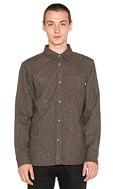 Stussy Speckle Flannel Button Up in Brown