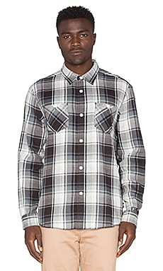 Stussy Big Mac Plaid Button Down in Black