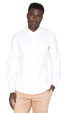 Stussy Diamond Jacquard Button Down in White
