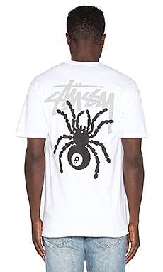 Stussy 8 Ball Spider Tee in White