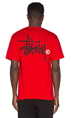Stussy Basic Logo Tee in Red
