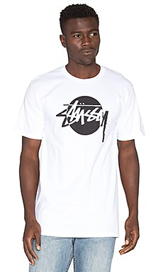 Stussy Circle Stock Tee in White