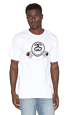 Stussy Smiley Link Tee in White