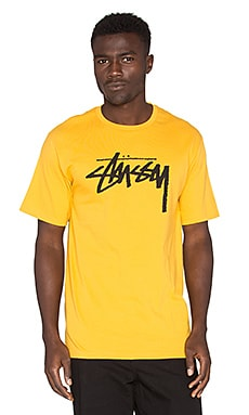 Stussy Stock Tee in Mustard