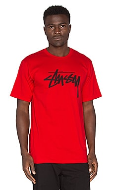 Stussy Stock Tee in Red