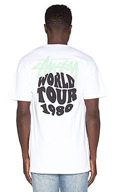 Stussy World Tour 1980 Tee in White