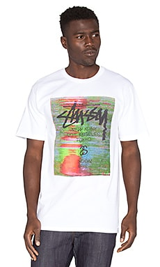 Stussy WT Glitch Tee in White