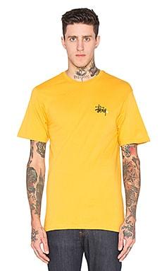 Stussy Basic Logo Tee in Mustard