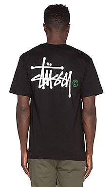 Stussy Basic Logo Tee in Black